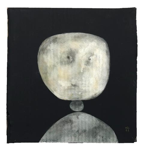 Victor Koch, Der Künstler legt ein Portrait, Menschen: Porträt, Natur: Gestein, Gegenwartskunst, Abstrakter Expressionismus