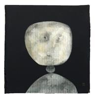 V. Koch, Der Künstler legt ein Portrait