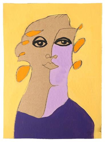 Victor Koch, Frau im Museum, Menschen: Frau, Dekoratives, Gegenwartskunst