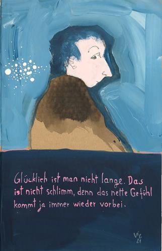 Victor Koch, Nicht schlimm, Menschen: Mann, Poesie, Gegenwartskunst, Expressionismus