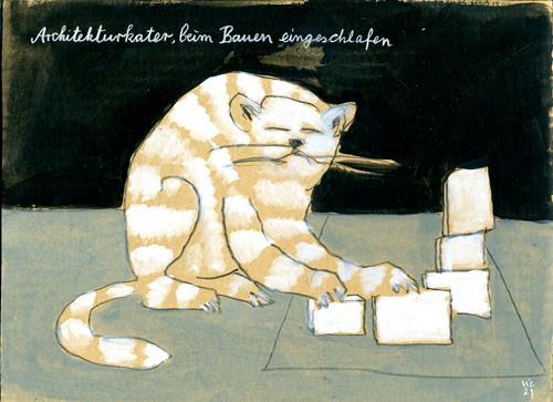 Victor Koch, Architekturkater, Architektur, Tiere: Land, Gegenwartskunst, Expressionismus