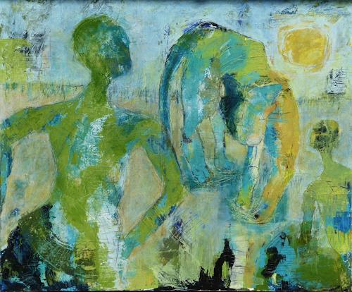 Monika Mueller, Well Roared Lion!, Tiere, Poesie, Abstrakter Expressionismus, Expressionismus