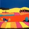 A. Weber, Landschaft mit blauem Himmel
