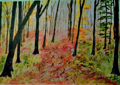 Veronika Ulrich, Herbst, Natur: Wald, Abstrakte Kunst