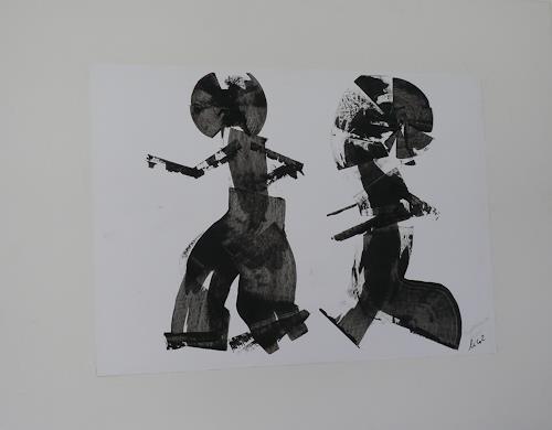 Veronika Ulrich, Tempeltänzer, Diverse Menschen, Abstrakter Expressionismus