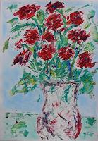 Veronika-Ulrich-Diverse-Pflanzen-Pflanzen-Blumen-Moderne-Expressionismus-Abstrakter-Expressionismus