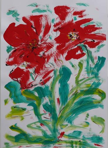 Veronika Ulrich, Blumen III, Pflanzen: Blumen, Abstrakter Expressionismus