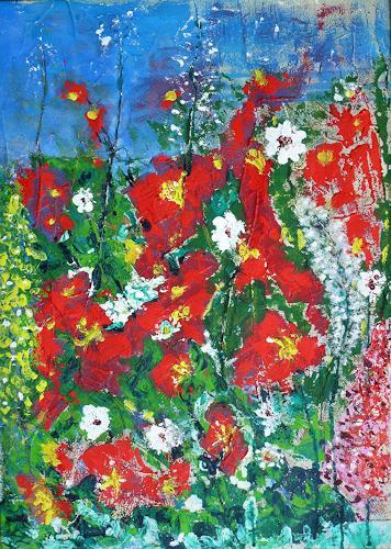 Veronika Ulrich, Sommerwiese, Pflanzen: Blumen, Abstrakter Expressionismus