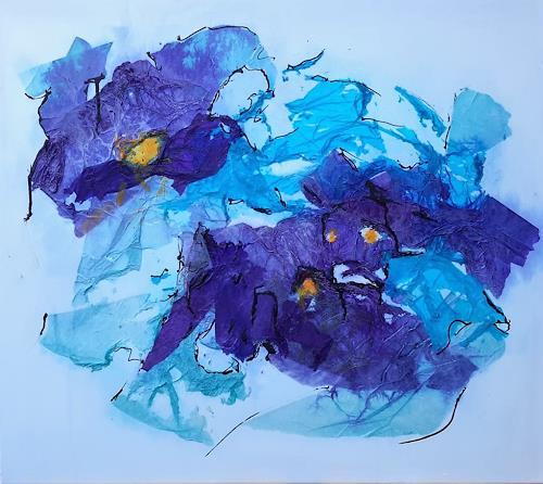 Veronika Ulrich, unvergessliche Träume, Fantasie, Pflanzen: Blumen, Abstrakter Expressionismus, Expressionismus