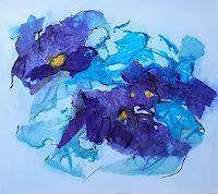 Veronika-Ulrich-Fantasie-Pflanzen-Blumen-Moderne-Expressionismus-Abstrakter-Expressionismus