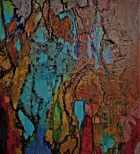 Veronika Ulrich, Tropfsteine, Natur: Diverse, Abstrakter Expressionismus