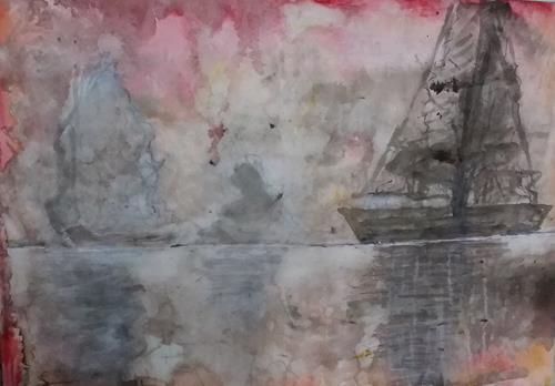 Veronika Ulrich, Fernweh akut, Diverse Gefühle, Abstrakter Expressionismus