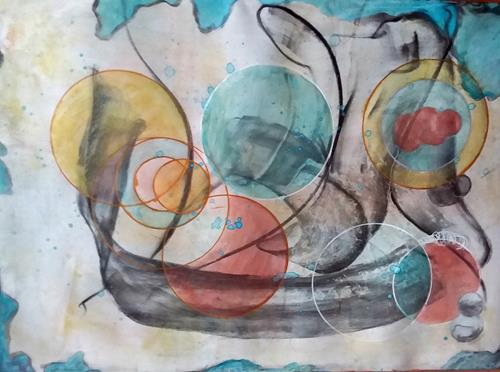 Veronika Ulrich, zur Ruhe gekommen, Fantasie, Abstraktes, Abstrakter Expressionismus