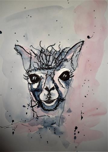 Veronika Ulrich, Guck mal...., Tiere: Land, expressiver Realismus