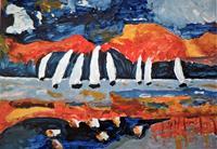 Veronika-Ulrich-Sport-Landschaft-See-Meer-Moderne-Expressionismus-Abstrakter-Expressionismus