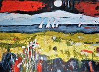Veronika-Ulrich-Landschaft-See-Meer-Natur-Wasser-Moderne-Expressionismus-Abstrakter-Expressionismus