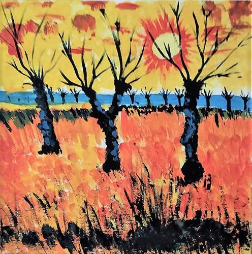 Veronika Ulrich, ein Versuch  nach van Gogh, Landschaft: Ebene, Abstraktes, Abstrakter Expressionismus