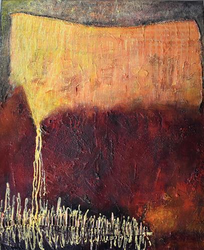 Christine Blum, Rot-Orange 6, Abstraktes, Abstrakte Kunst