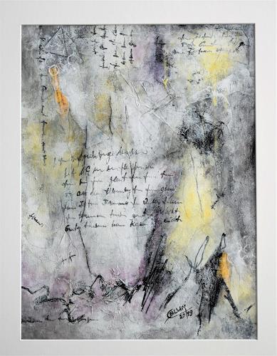 Christine Blum, Weiß 3, Abstraktes, Abstrakte Kunst