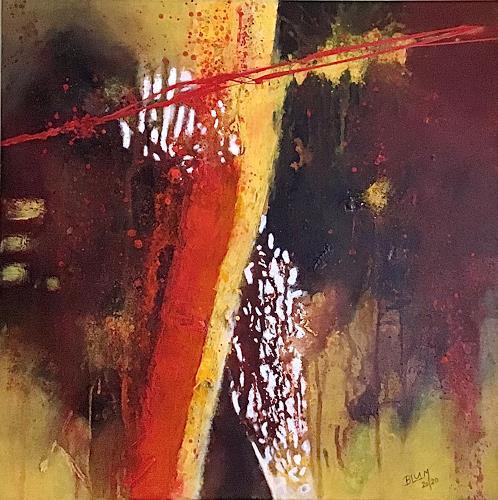 Christine Blum, Senf und Ketchup, Abstraktes, Abstrakte Kunst, Expressionismus