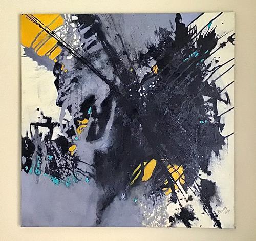 "Christine Blum, ""Mecki"", Abstraktes, Abstrakte Kunst"