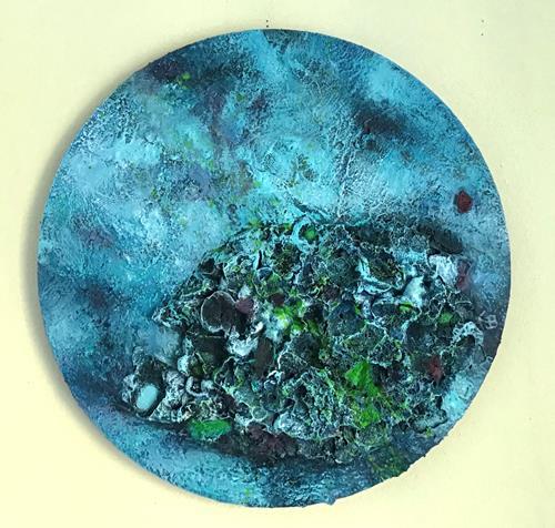Christine Blum, Kugelfisch, Abstraktes, Abstrakte Kunst