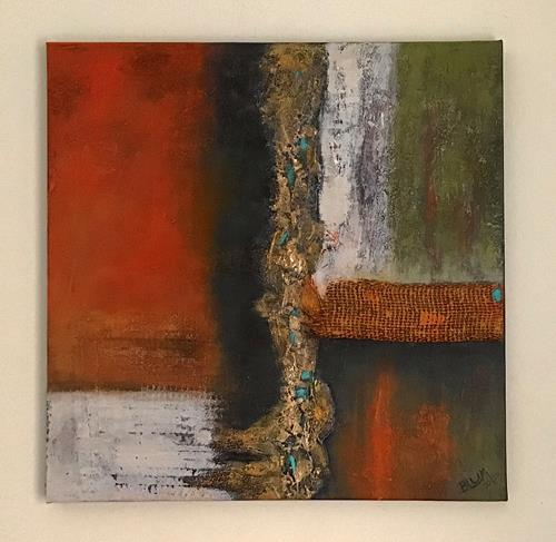 Christine Blum, o.T., Abstraktes, Abstrakte Kunst, Expressionismus