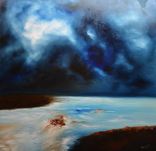 Niki Katiki, River, Landschaft: See/Meer, Abstraktes, Expressionismus, Abstrakter Expressionismus