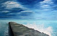 Niki-Katiki-Landschaft-Landschaft-See-Meer-Moderne-Impressionismus