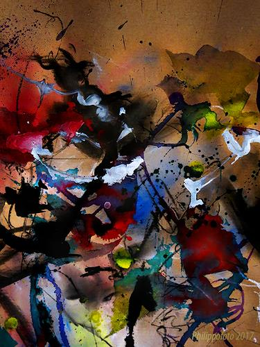 Rüdiger Philipp, Beitrag verbergen !?, Abstraktes, Abstraktes, Action Painting, Abstrakter Expressionismus