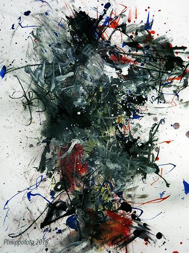 Rüdiger Philipp, ...und auch von dieser Seite !, Abstraktes, Fantasie, Abstrakter Expressionismus