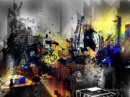 Rüdiger Philipp, wo ist der Manager  (Manhatten-Serie), Architektur, Abstraktes, Gegenwartskunst, Abstrakter Expressionismus