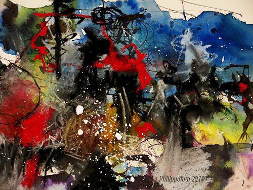 Rüdiger Philipp, immer warten !, Abstraktes, Abstraktes, Abstrakter Expressionismus