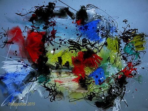 Rüdiger Philipp, Happy Easter !, Abstraktes, Abstraktes, Abstrakter Expressionismus