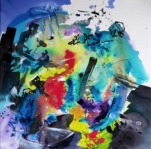 Rüdiger Philipp, ganz weit weg !, Abstraktes, Abstraktes, Abstrakter Expressionismus