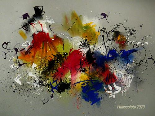 Rüdiger Philipp, an sich schon !, Abstraktes, Abstraktes, Abstrakter Expressionismus