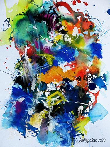 Rüdiger Philipp, das ist nur vorübergehend, Abstraktes, Abstraktes, Abstrakter Expressionismus