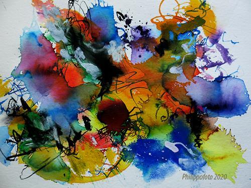 Rüdiger Philipp, wir berichten darüber !, Abstraktes, Abstraktes, Abstrakter Expressionismus