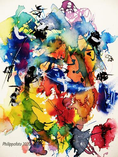 Rüdiger Philipp, dem Frühchen eine Geschichte, Abstraktes, Abstraktes, Abstrakter Expressionismus