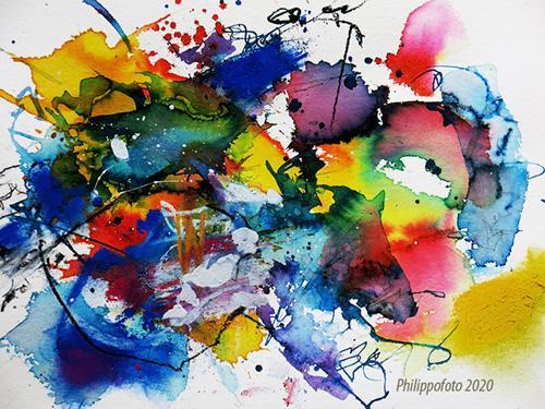 Rüdiger Philipp, man wird es sehen !, Abstraktes, Abstraktes, Abstrakter Expressionismus