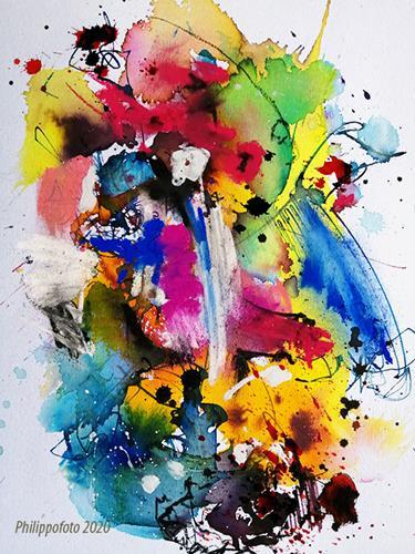 Rüdiger Philipp, immer und immer !, Abstraktes, Abstraktes, Abstrakter Expressionismus