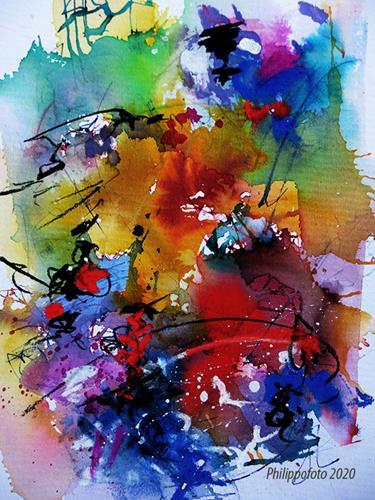 Rüdiger Philipp, noch eins bitte !, Abstraktes, Abstraktes, Abstrakter Expressionismus, Expressionismus