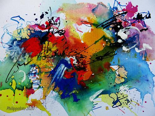 Rüdiger Philipp, nur auf einer Saite !, Abstraktes, Abstraktes, Abstrakter Expressionismus