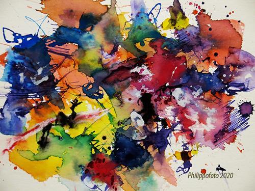 Rüdiger Philipp, vergiss es !, Abstraktes, Abstraktes, Abstrakter Expressionismus