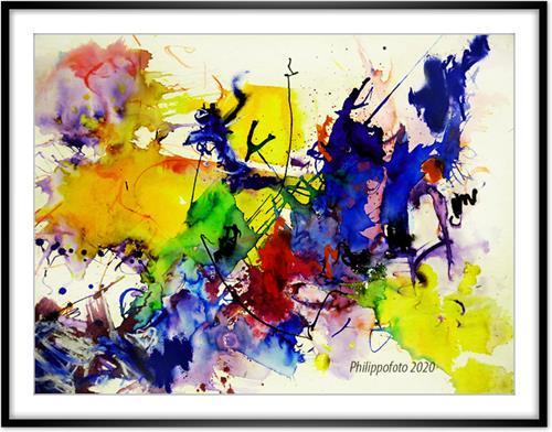 Rüdiger Philipp, ganz langsam !, Abstraktes, Abstraktes, Abstrakter Expressionismus