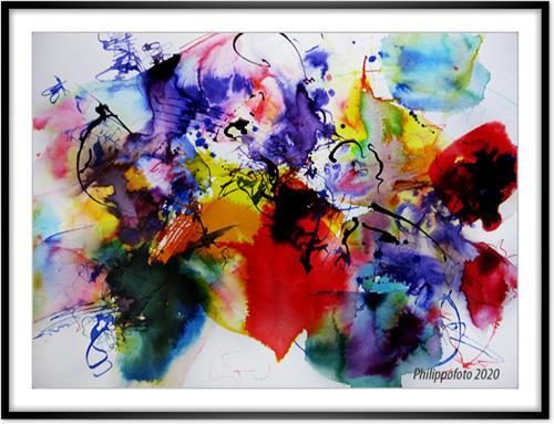 Rüdiger Philipp, zweimal ist einmal zuviel, Abstraktes, Abstraktes, Abstrakter Expressionismus