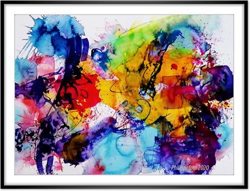 Rüdiger Philipp, die Mutter ist die Porzellankiste, Abstraktes, Abstraktes, Abstrakter Expressionismus