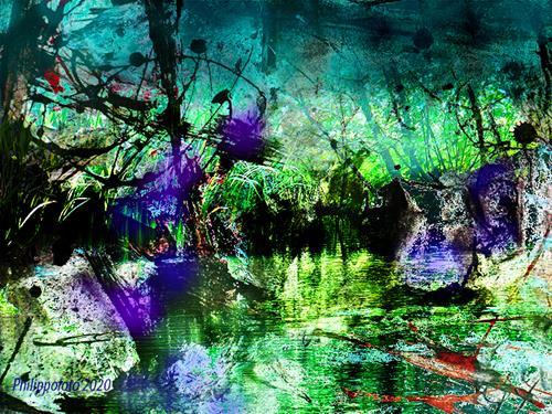 Rüdiger Philipp, saftige Antwort, Abstraktes, Abstraktes, Abstrakter Expressionismus, Expressionismus
