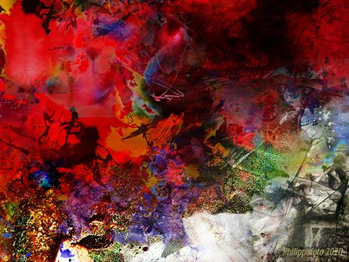 Rüdiger Philipp, es ist problemlos !, Abstraktes, Abstraktes, Abstrakter Expressionismus