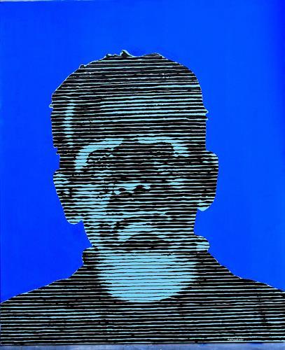 Andreas Schmelzer, Frank, Spiel, Menschen: Mann, Gegenwartskunst, Abstrakter Expressionismus